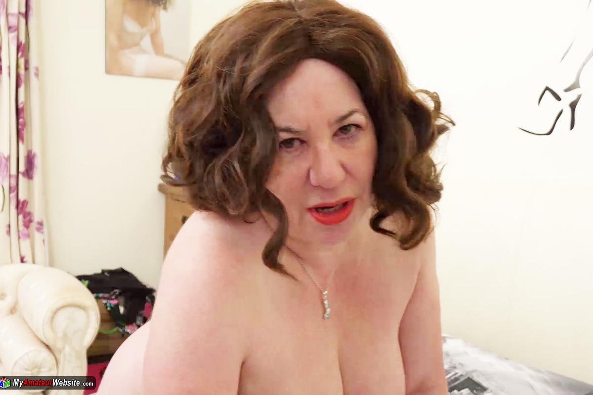 AuntieTrisha - White Fishnet Dress Pt 2