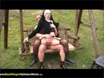 Granny Nun Fucked On A Swing Pt2