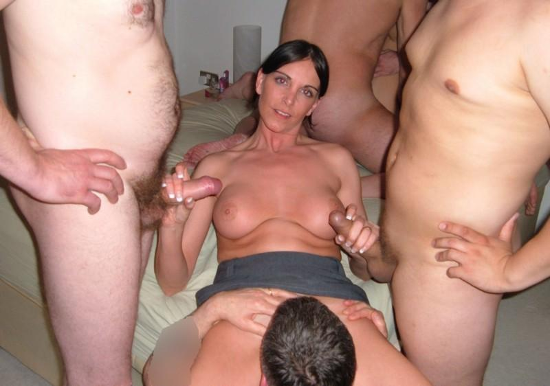 Big tits being milked by hand