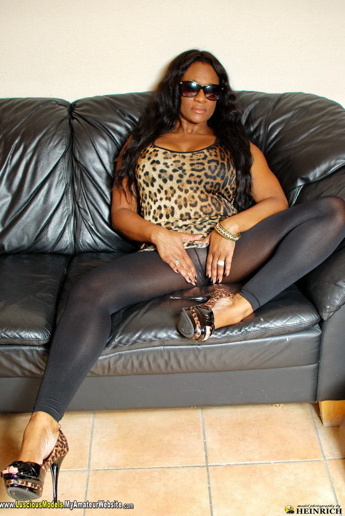 LusciousModels - Yaz Holland ebony pantyhose 15