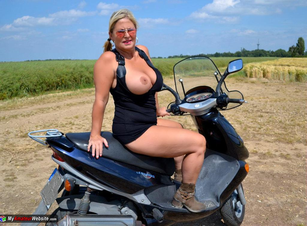 NudeChrissy - Another Trip On My Motor Bike