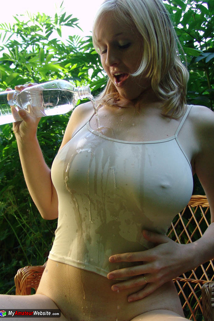 Shirt big milf wet t boobs