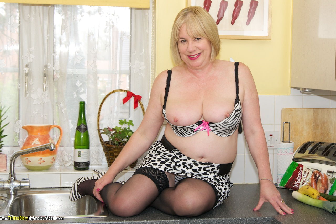 TrishasDiary - Stripping in the Kitchen