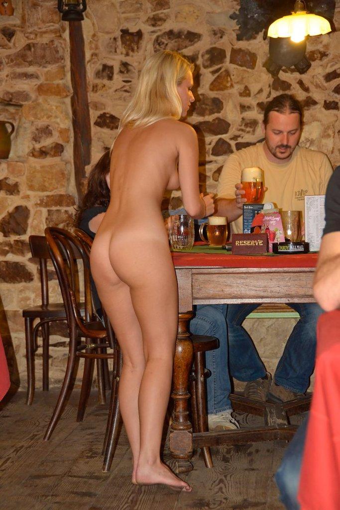 naked waitress bar