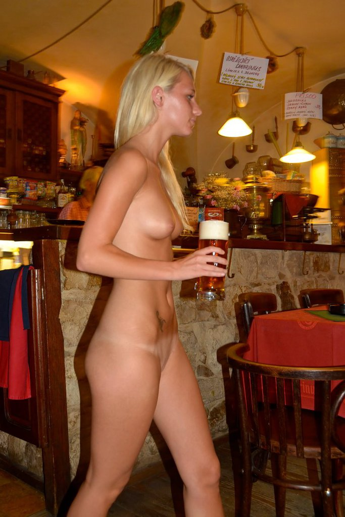 topless barmaid video