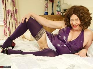 AuntieTrisha - Purple PVC Dress