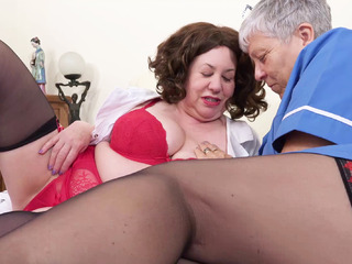 AuntieTrisha - Two Naughty Nurses Pt 1 HD Video