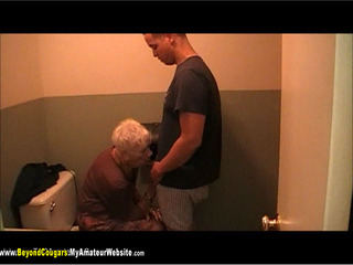 BeyondCougars - Granny Marg Bathroom Fuck