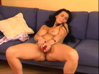 BustyReny - Big Red Dildo 3 Video