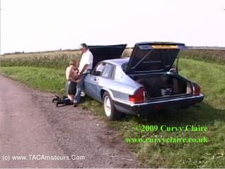 CurvyClaire - Classic Car Cock Movie HD Video