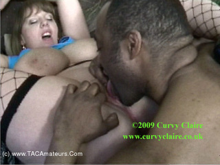 CurvyClaire - Living Room Interracial Pt2 HD Video