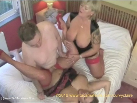 CurvyClaire - Threesome With Randy Raz Pt3 HD Video