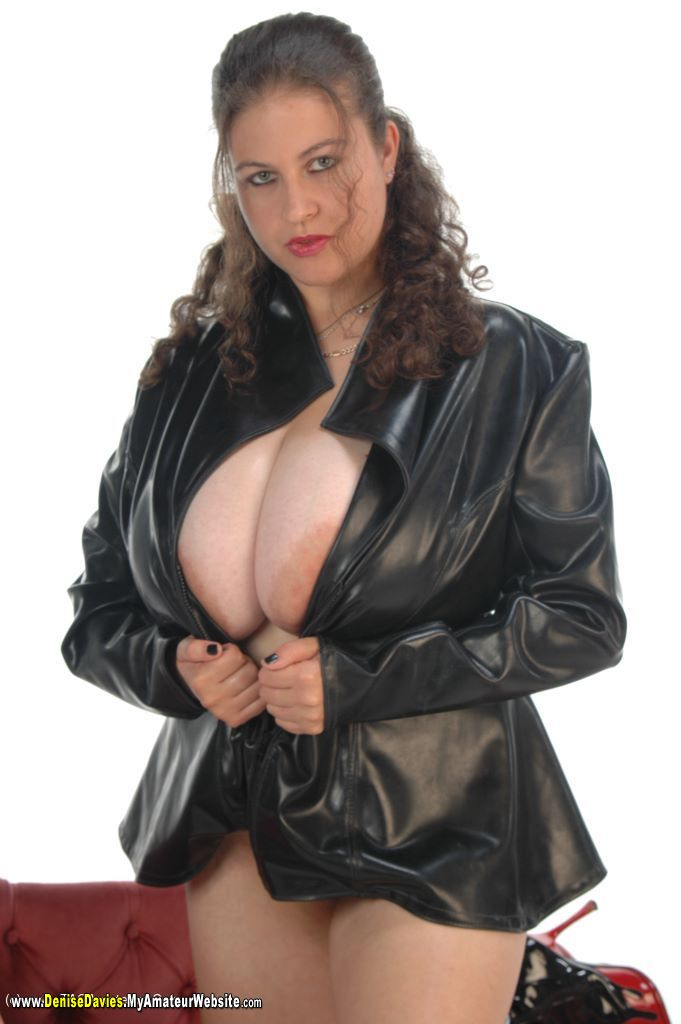 Massive tits in leather