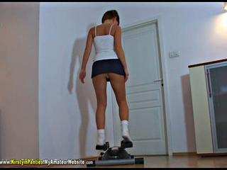 KirstyInPanties - Kellys Olympic Workout Video