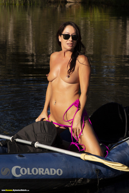 More naked teasing on a boat