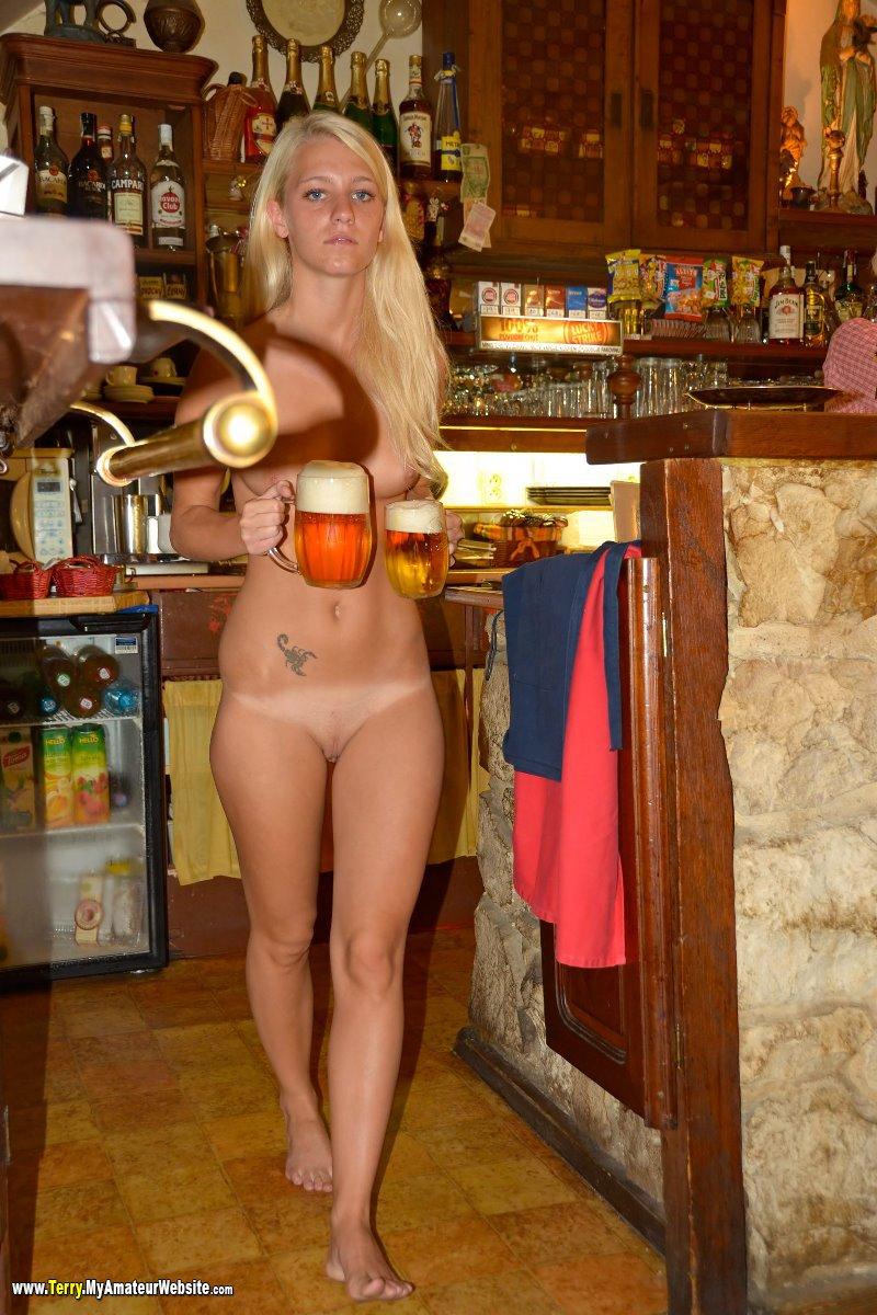 naked teen in bar